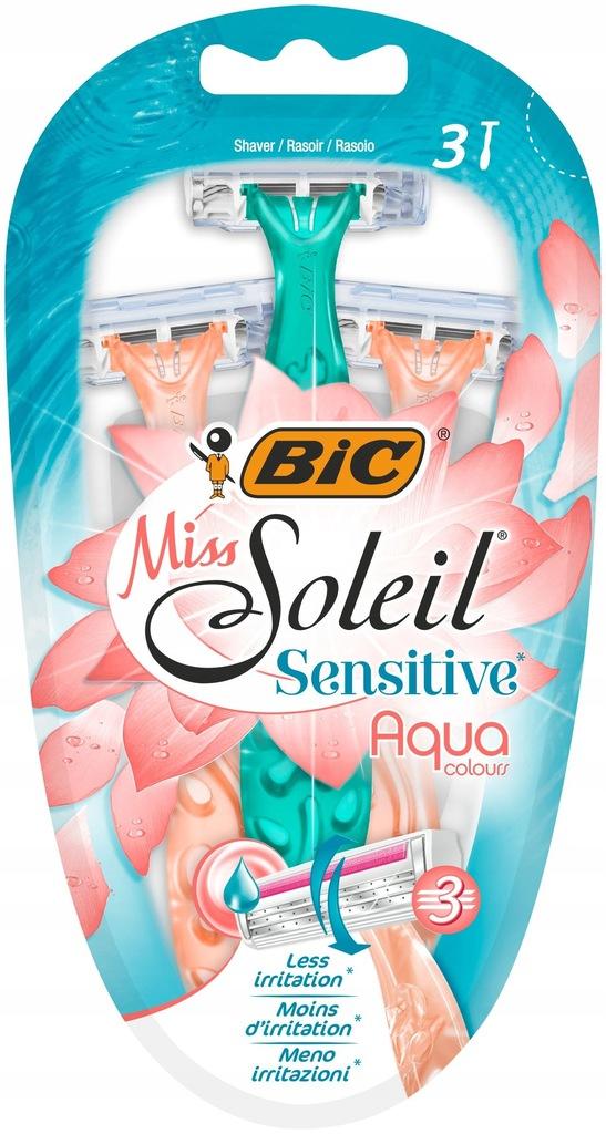 Bic Maszynka do golenia Miss Soleil 3 Sensitive Aq