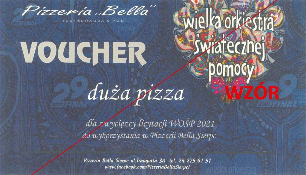 Voucher - duża pizza #6080
