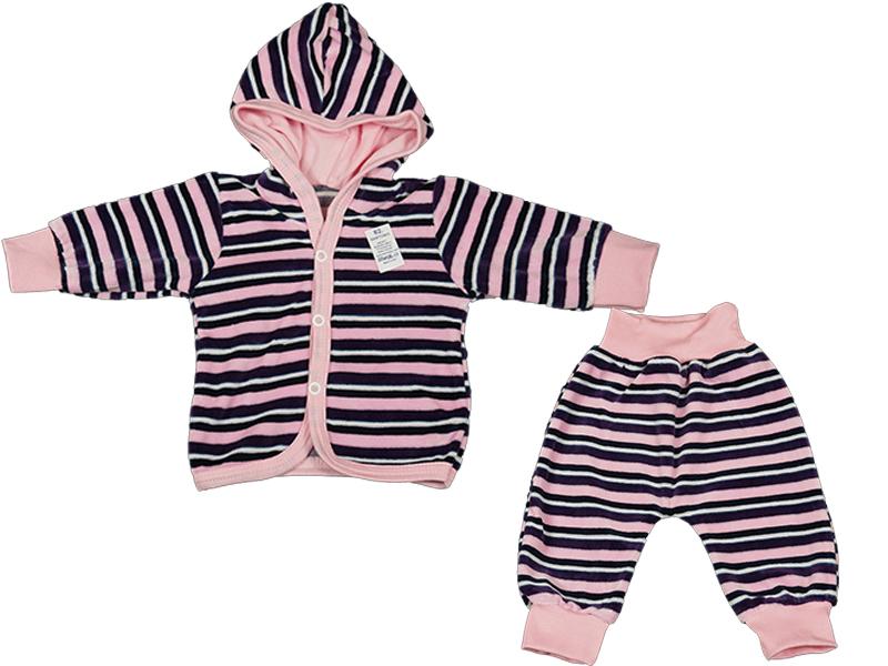 DRES welurowy Komplet Bluza + Spodnie p.różowe 74