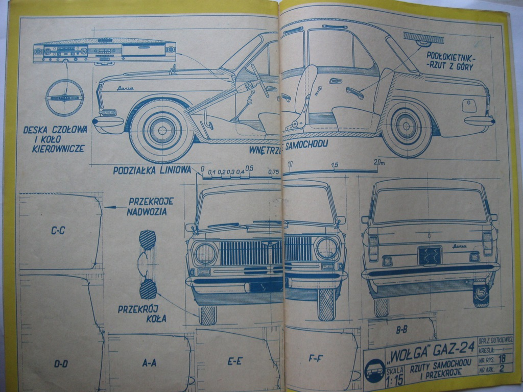 MODELARZ Wołga GAZ-24 Plan 1971