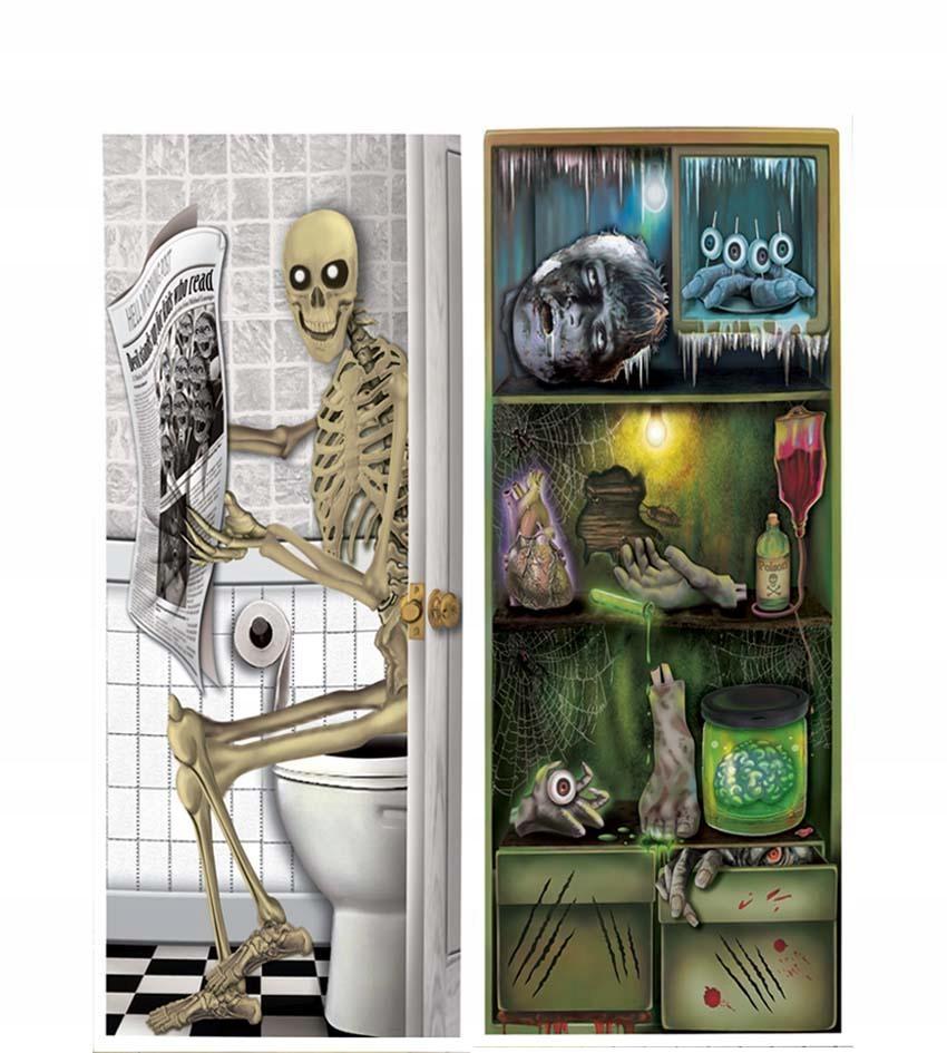 Dekoracja na drzwi Halloween 75x150cm akcesoria