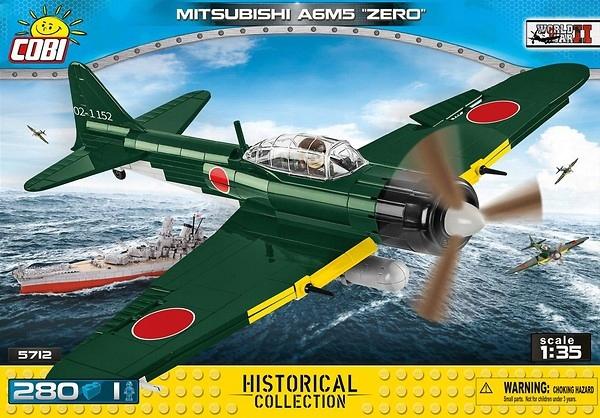 COBI SAMOLOT 5712 Mitsubishi A6M5 Zero 280 element