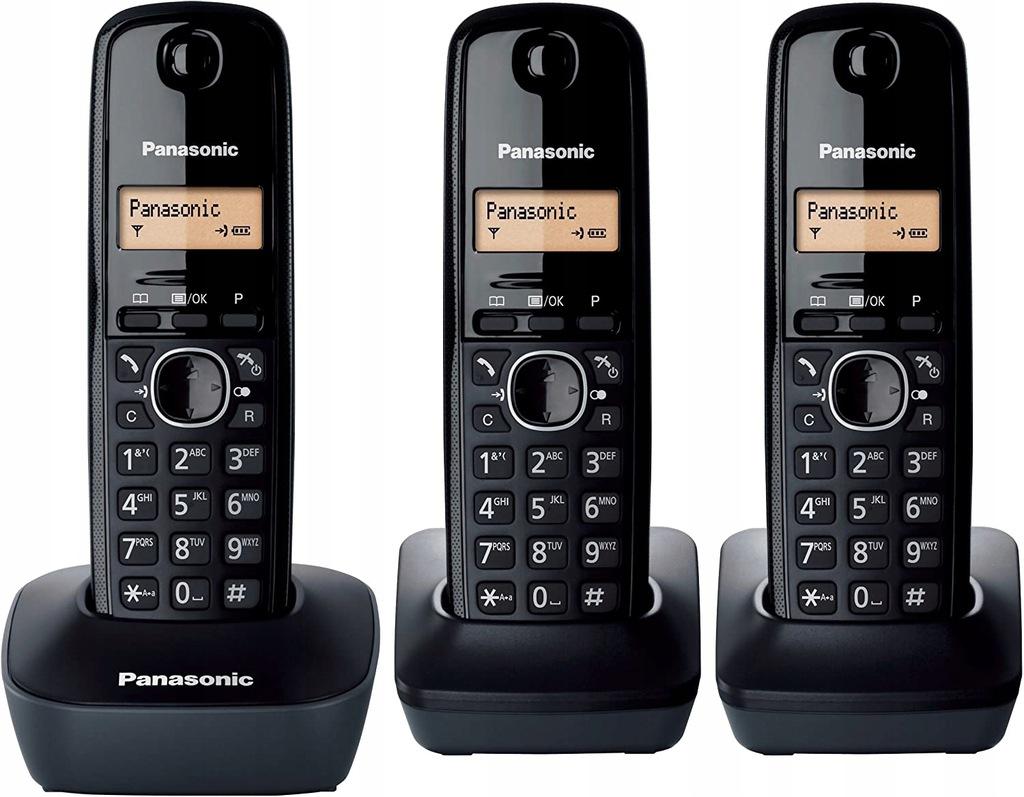 Panasonic KX-TG1613 Bezprzewodowy Trio DECT czarny
