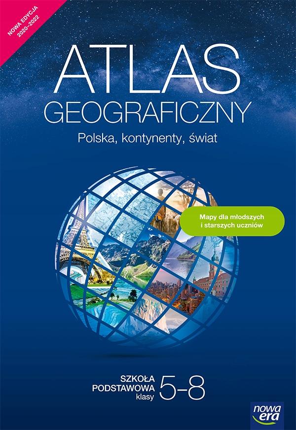 Geografia atlas Polska kontynenty świat klasy 5-8