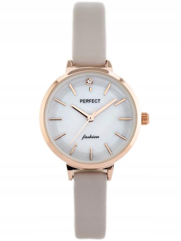 ZEGAREK DAMSKI PERFECT A3019 (zp884b) - grey/beige