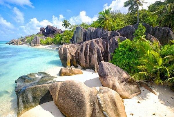 Okleina Wyspa na Seszelach obraz