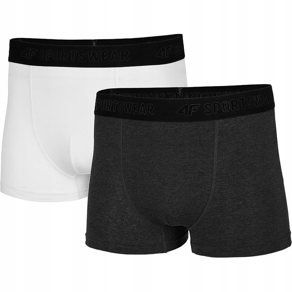 Bokserki majtki męskie 4F bawełniane 2-pak - XL