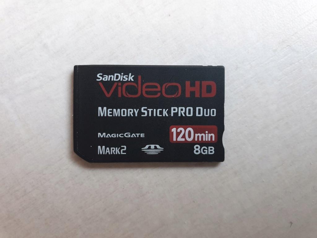 MEMORY STICK PRO- DUO SANDISK SONY 8 GB
