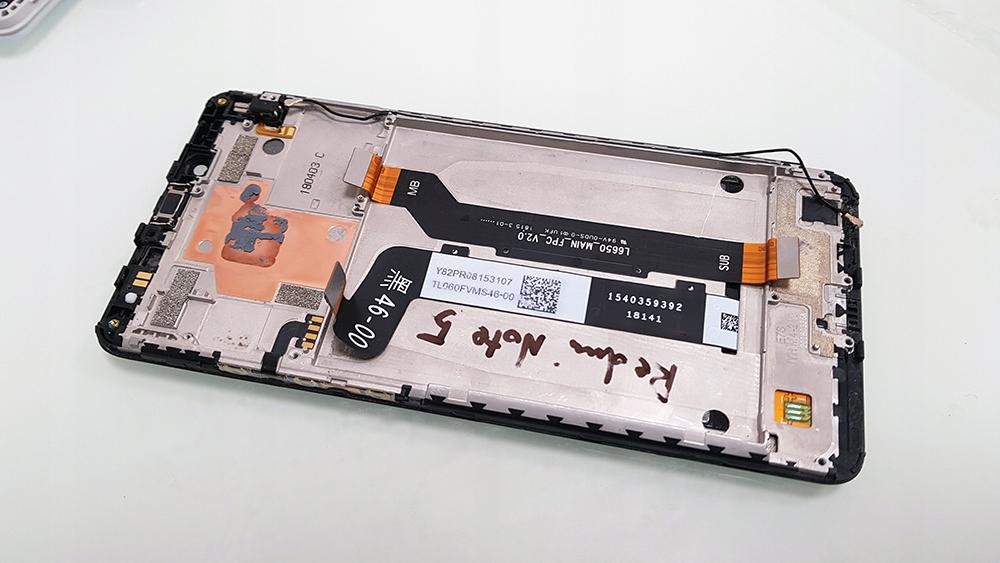 Ramka Ekranu Przyciski Boczne Xiaomi Redmi Note 5