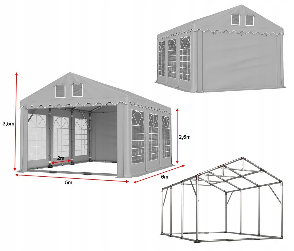 Namiot imprezowy PRESTIGE 5x6 2,6 7585772532 oficjalne