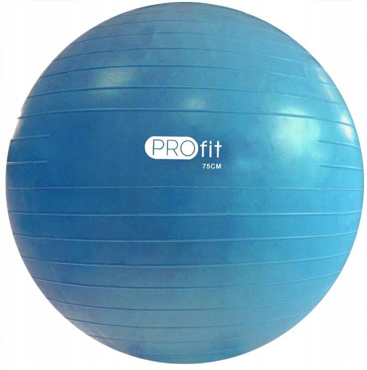 Piłka Gimnastyczna Profit 75 cm niebieska z pompką