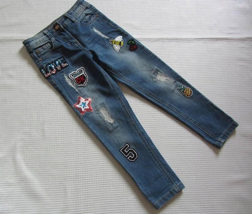 GEORGE_boskie RURKI jeansowe z NASZYWKAMI_104-110