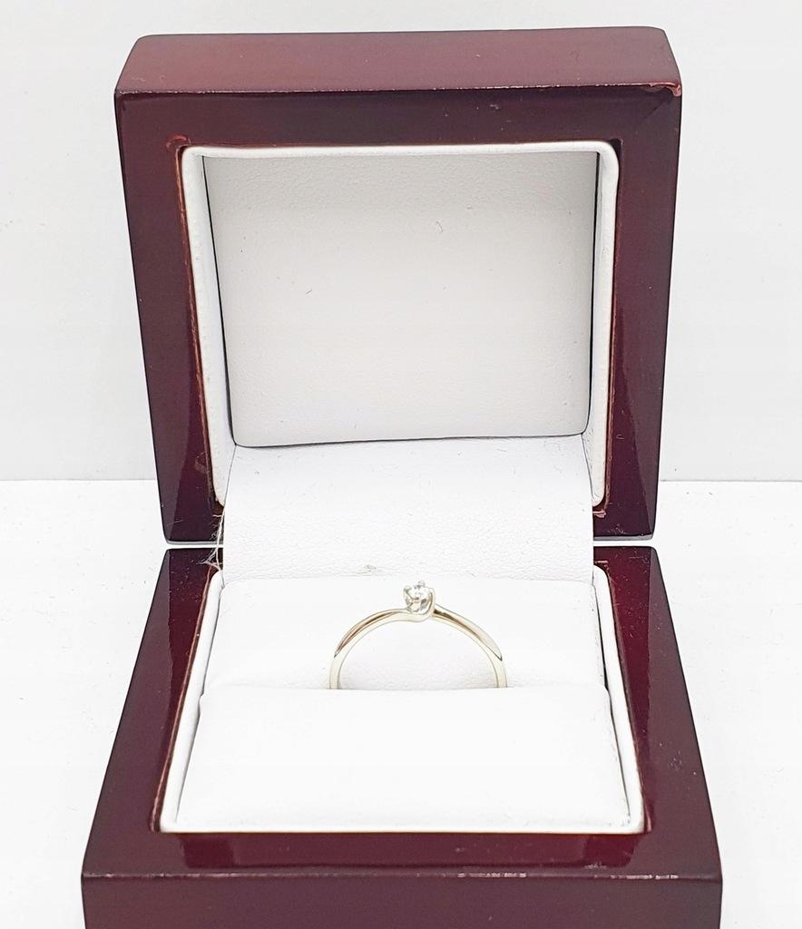 Złoty pierścionek z diamentem 1.46g P375 R13