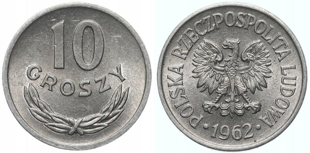 231.Polska - PRL - 10 groszy - 1962 - St.1- #A
