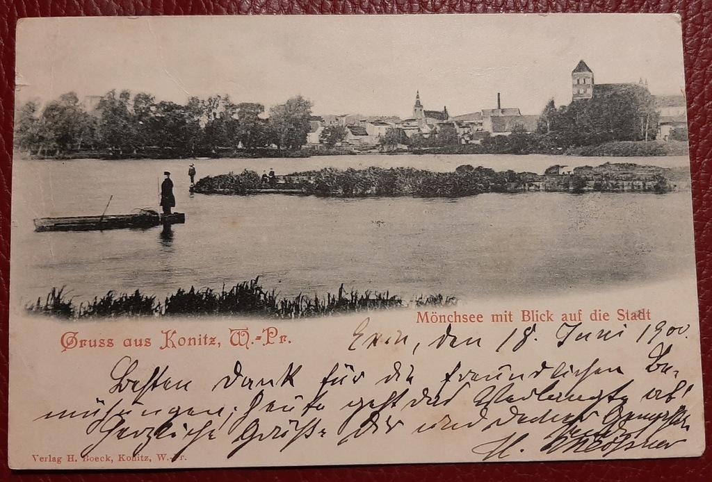 Pocztówka Gruss aus Konitz - Chojnice 1900 r