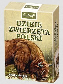 KARTY - PRZYRODA DZIKIE ZWIERZĘTA POLSKI TREFL