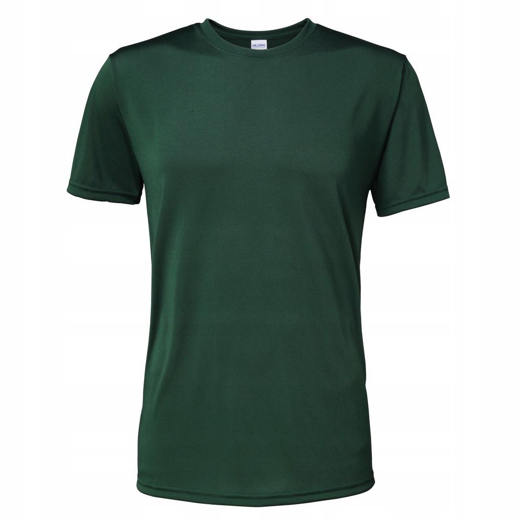 Gildan Męska koszulka z 2XL Sport Ciemnozielony