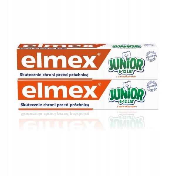 Elmex Junior Pasta do zębów dla dzieci 6-12 2szt