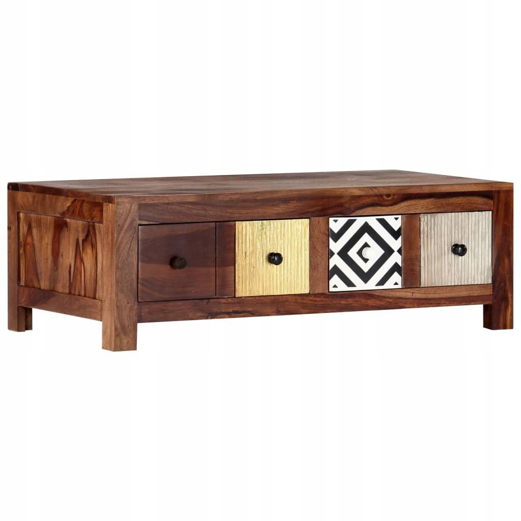 Stolik kawowy, 90 x 50 x 30 cm, lite drewno sheesh