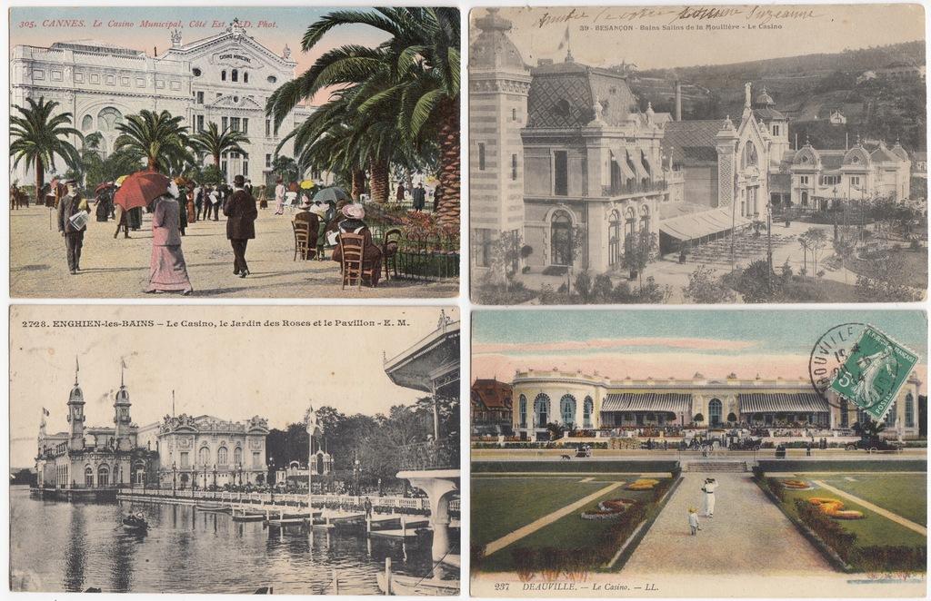 Stare pocztówki FRANCJA KASYNO (4 szt.) 4C07