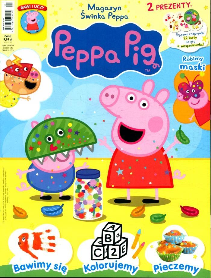 ŚWINKA PEPPA magazyn nr 1/2019 + karty do gry i pł - 7807784170 - oficjalne  archiwum Allegro