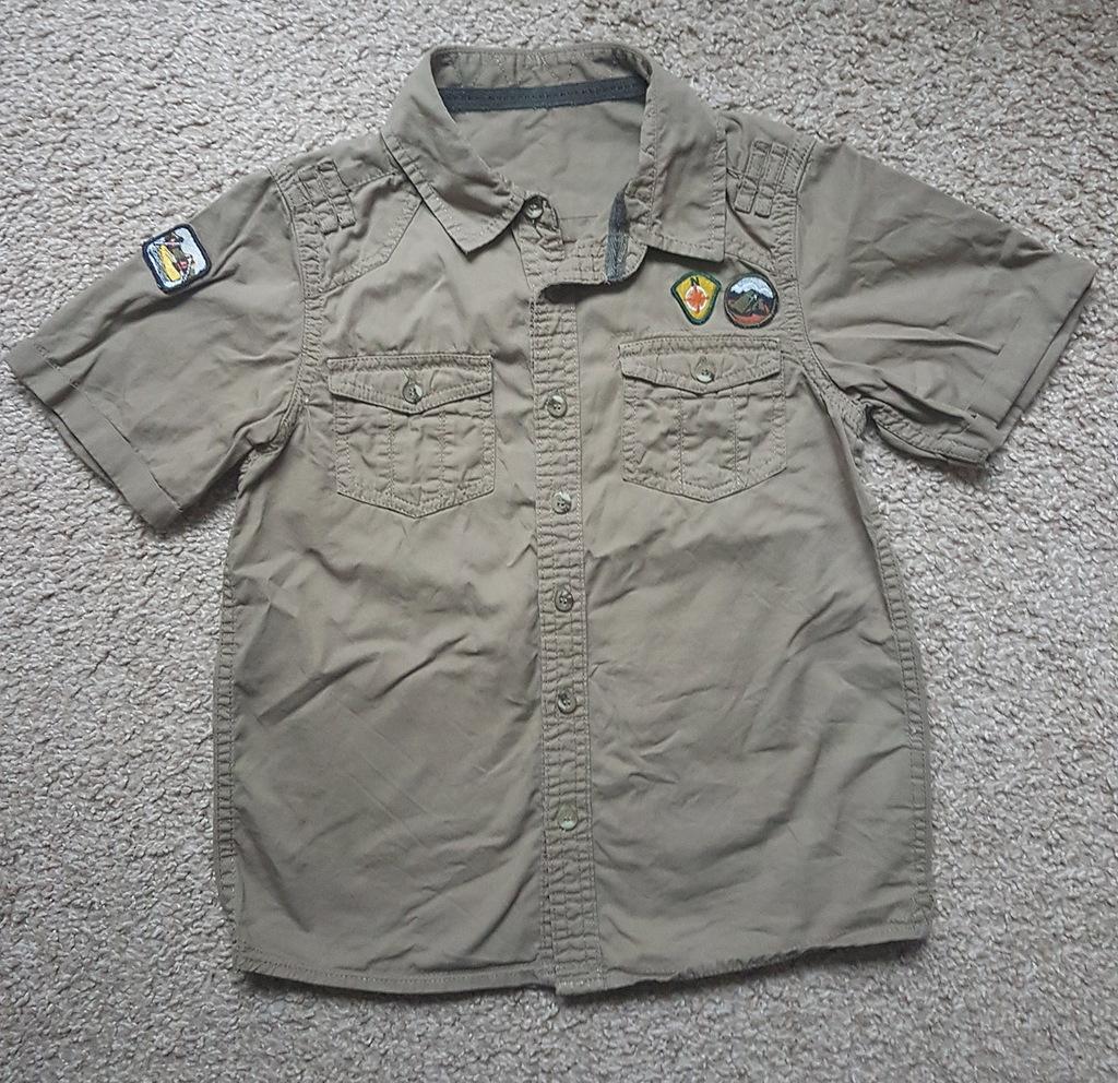 Koszula militarna 7 - 8 lat 128-134 Mothercare