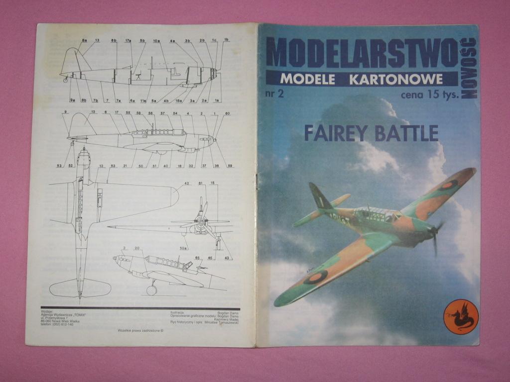 wyd. TOMIX - samolot FAIREY BATTLE