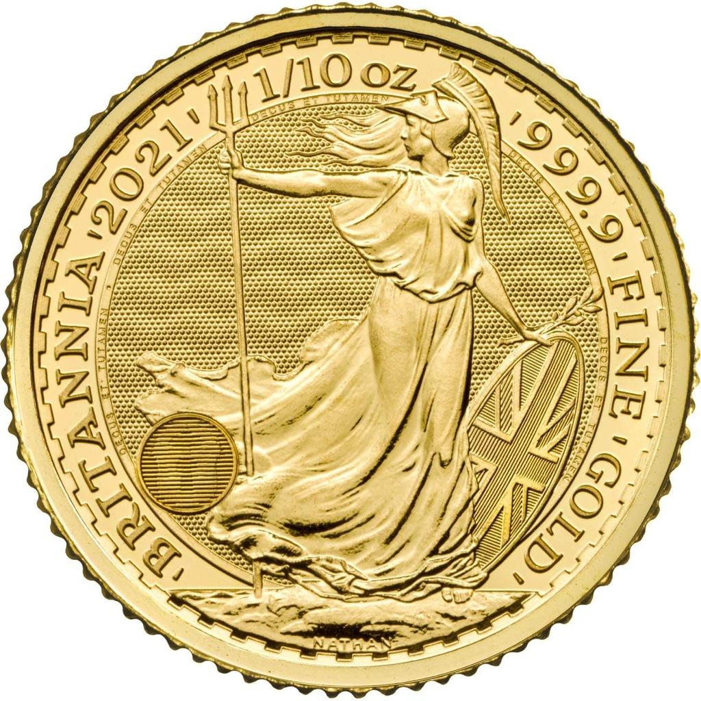 10 Pounds - Britannia 2021 - 1/10 Au