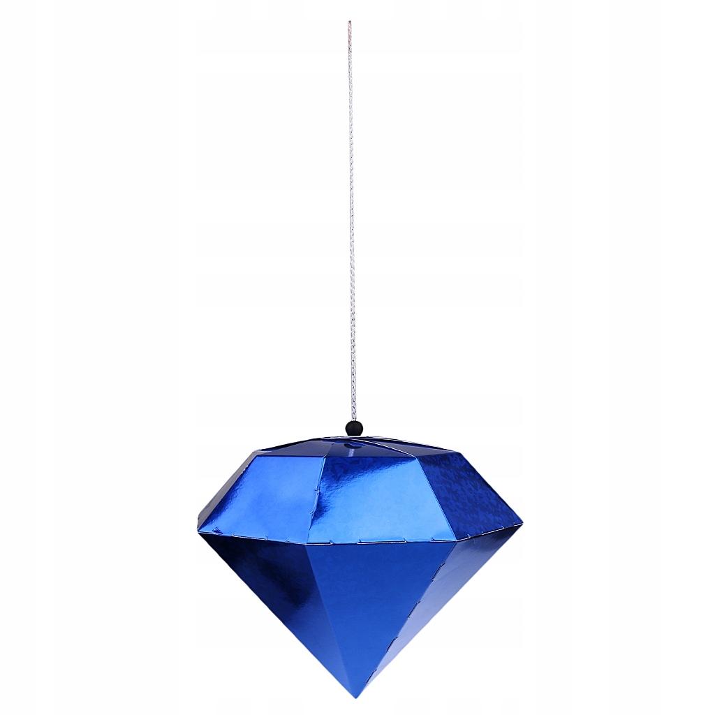 1 x papierowy diament - Niebieski - L