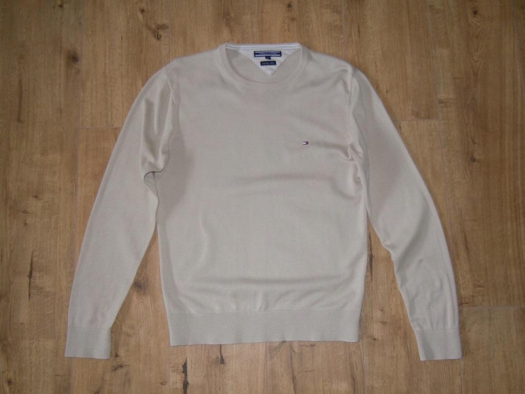 TOMMY HILFIGER jasny sweter r .S BDB