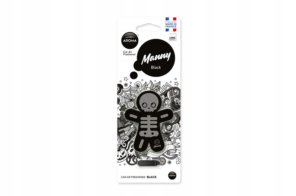 Odświeżacz powietrza AROMA CAR MANNY - Black