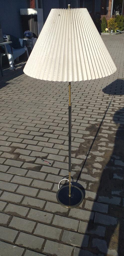 Lampa z PRL-u plisowany abażur