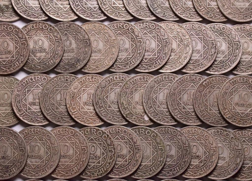 1929-34 Maroko Protektorat - 10 franków 50 sztuk
