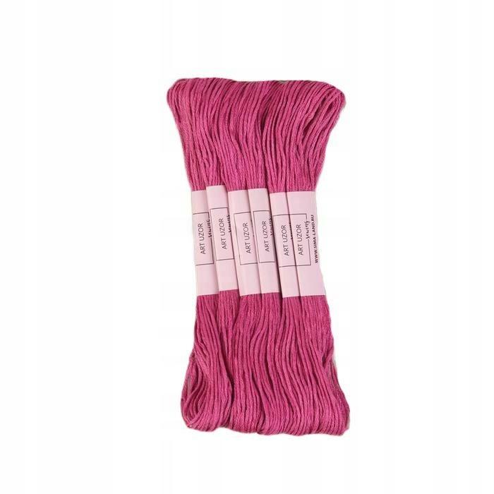 12 szt. nici 8 ± 1 m kolor różowo-malinowy nr