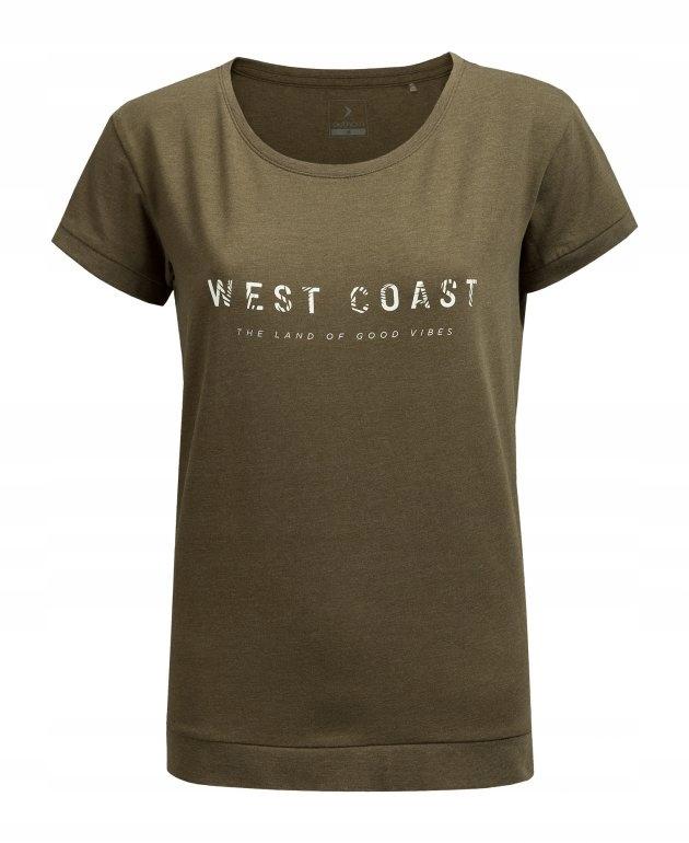 Outhorn T-shirt damski L19 TSD637 -khaki XL