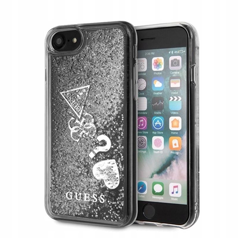 Guess Liquid Glitter Hearts - Etui iPhone SE 20...