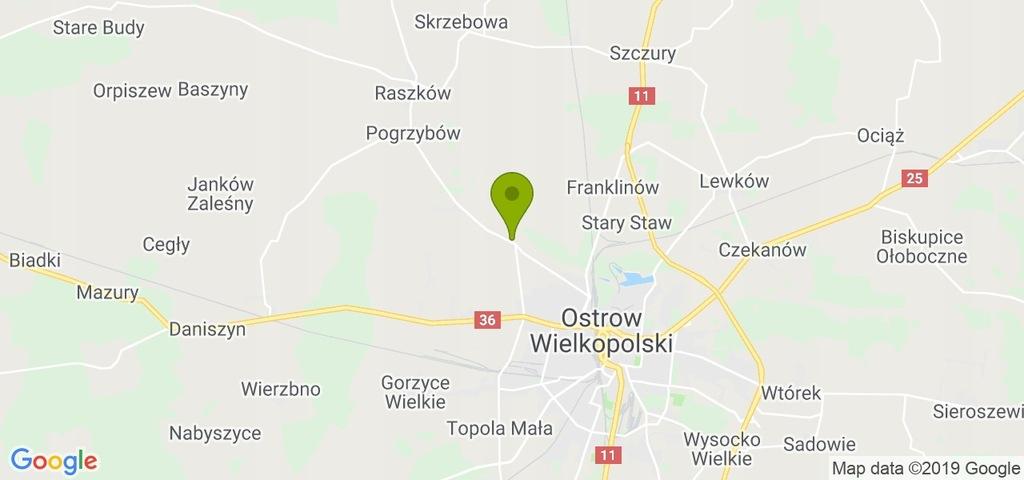 Działka Raszków, ostrowski, 4356,00 m²