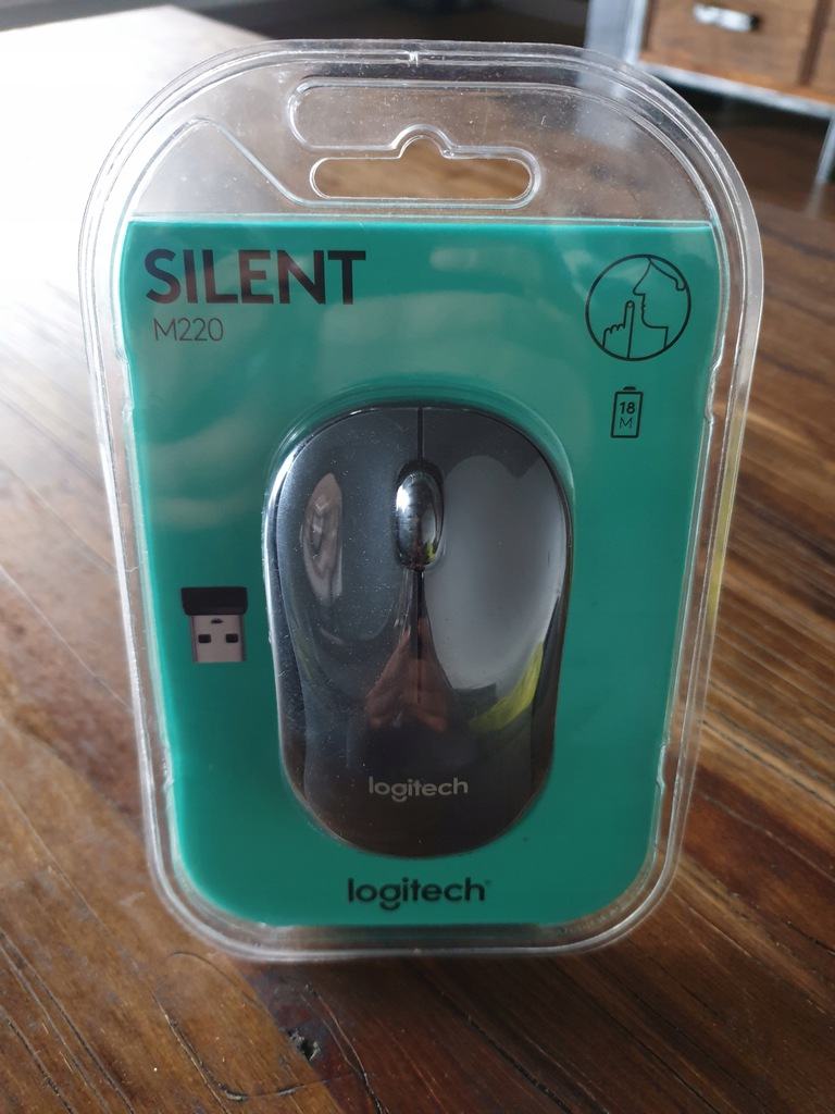 Mysz komputerowa Logitech M220 Silent Mouse Czarny