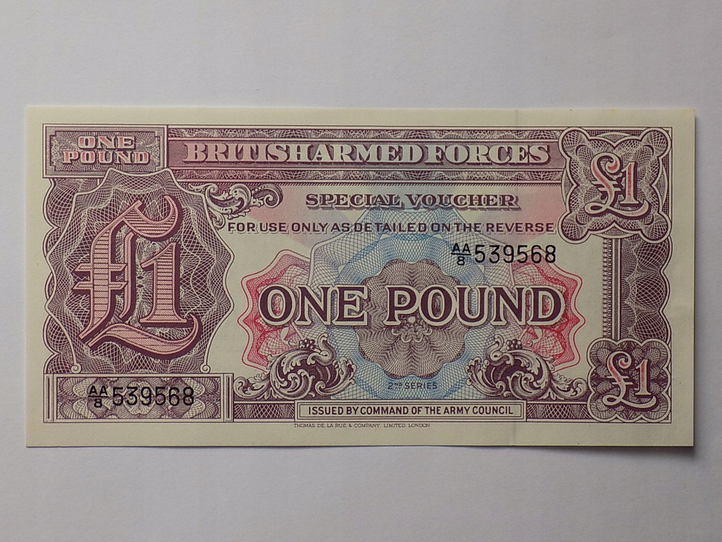 BANKNOT ANGLIA 1 FUNT (POUND) AA/8 - (UNC)