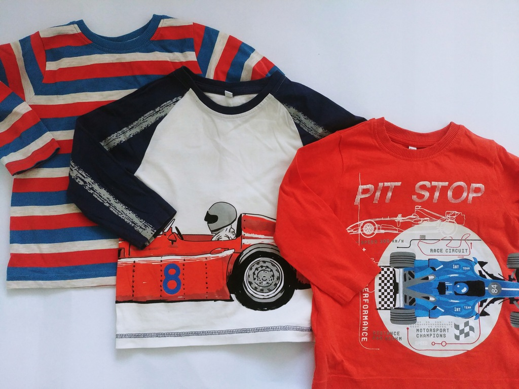 86_3 koszulki 3 pak M&S JAK NOWE