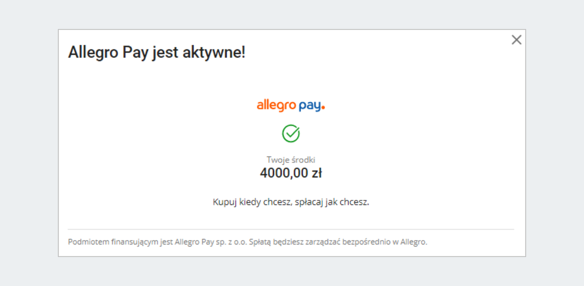 Jak Aktywowac Allegro Pay Pomoc Allegro