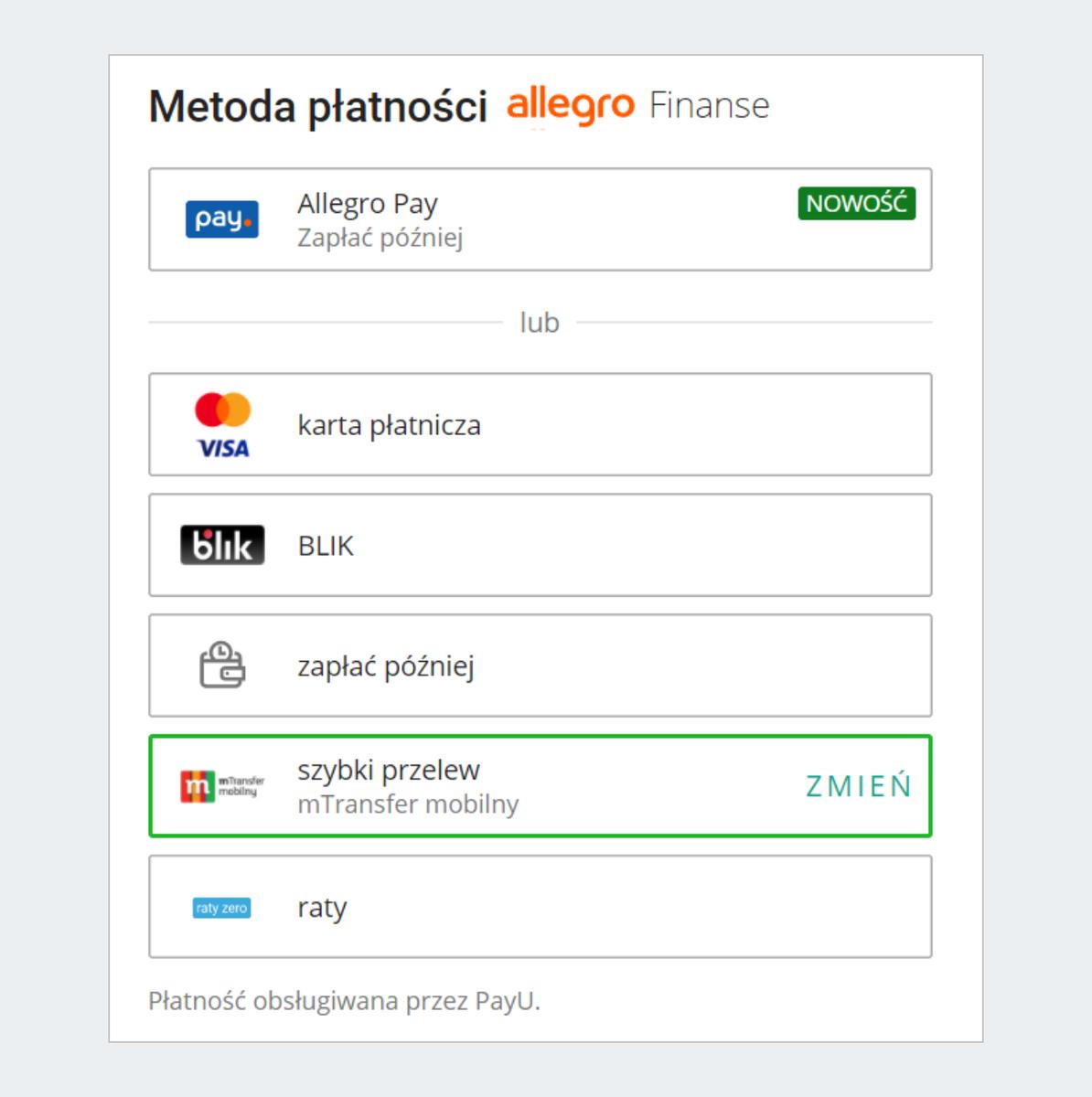 Allegro Finanse Jak Zaplacic Za Przedmiot Kupiony Na Allegro Pomoc Allegro