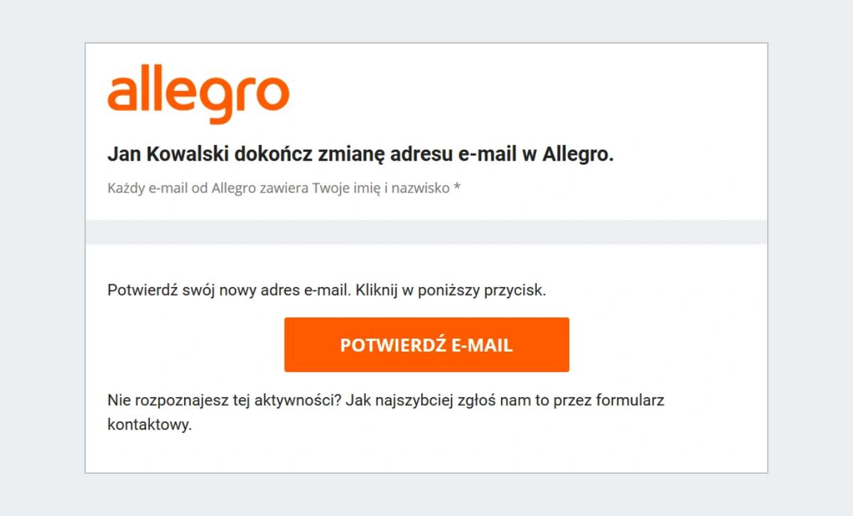 Jak Zmienic Adres E Mail W Ustawieniach Konta Pomoc Allegro