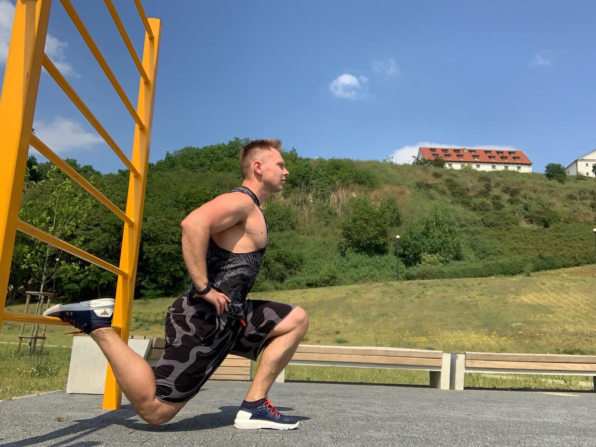 09 10 zelených telocvičných cvičení bulharský drep