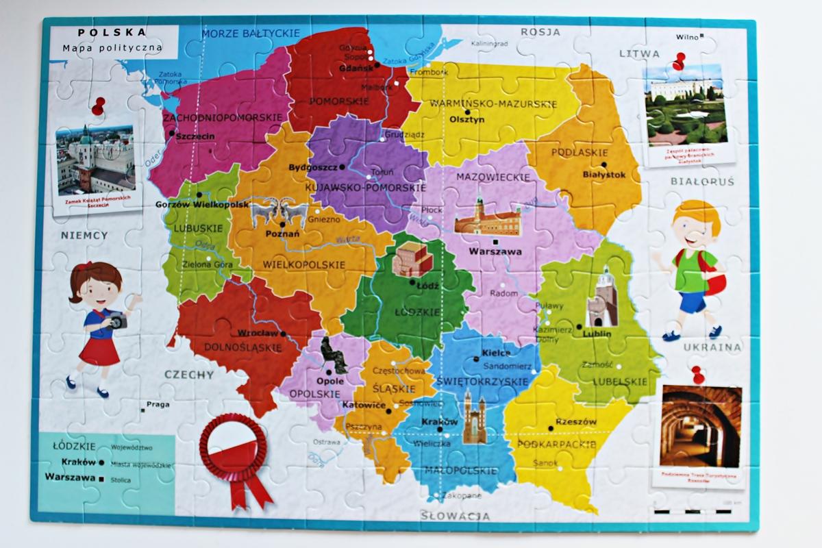 """Odkrywam Polskę – mapa Polski, puzzle 2w1 Clementoni"""" – recenzja ..."""