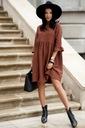 Sukienka Sugarfree oversize brązowa rozmiar M Styl klasyczna