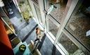Odkurzacz do szyb Leifheit 51003 Dry&Clean Maksymalna szerokość ściągaczki 28 cm