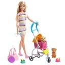 Barbie Spacerówka z pieskami Zestaw GHV92 Marka Barbie