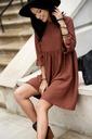 Sukienka Sugarfree oversize brązowa rozmiar M Okazja na co dzień