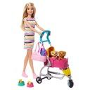 Barbie Spacerówka z pieskami Zestaw GHV92 Seria Inny